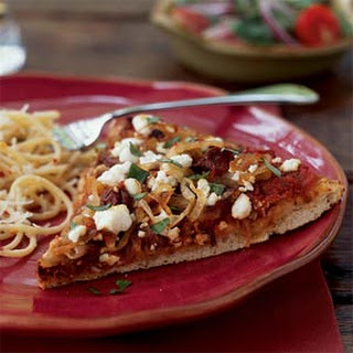 Caramelized Onion and Goat Cheese Pizza.