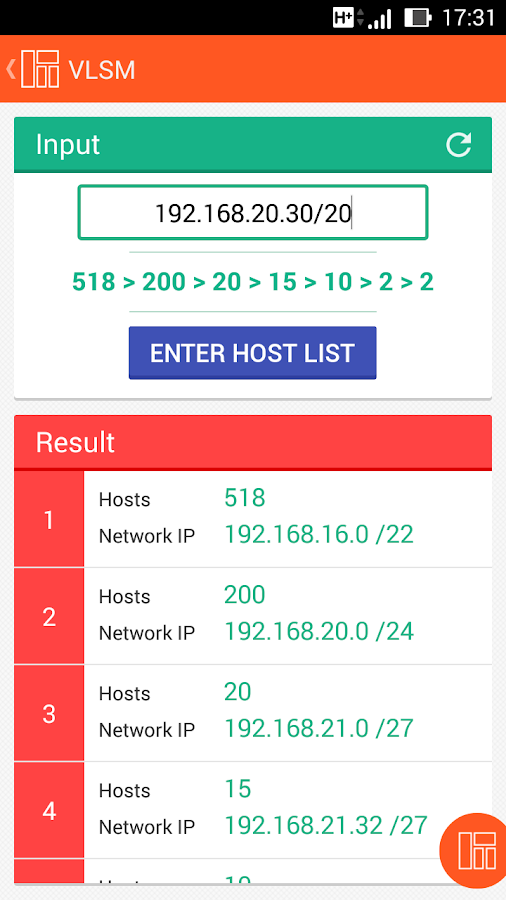 how to find my subnet mask on android