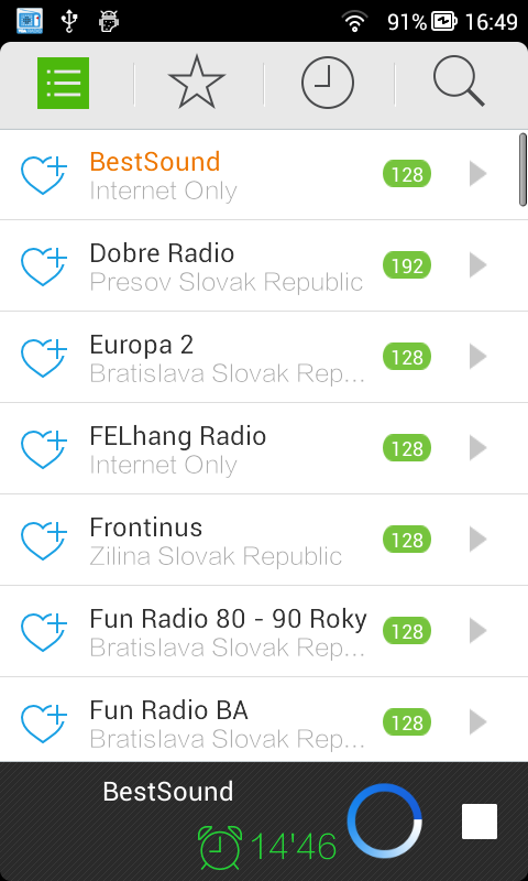 Radio of Slovak Republic - screenshot
