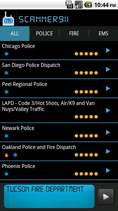 Scanner911 Police Scanner - screenshot