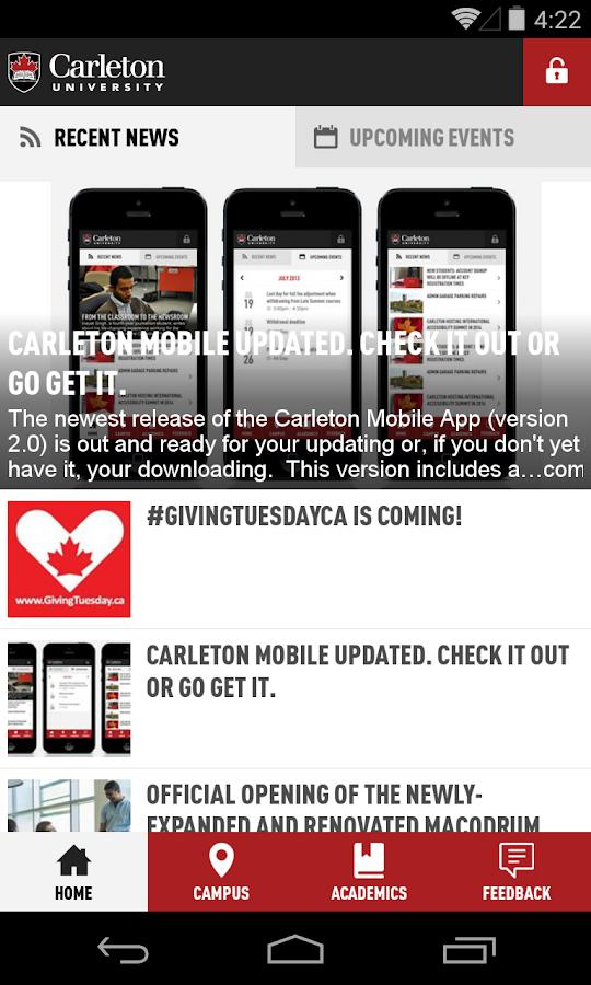 Carleton Mobile- screenshot