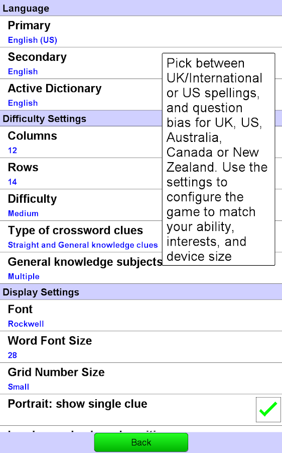 Crossword Unlimited + - screenshot