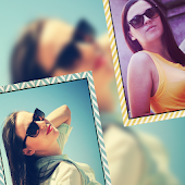 Color Frames on Photo Collage