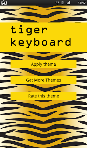 Tiger Keyboard Theme