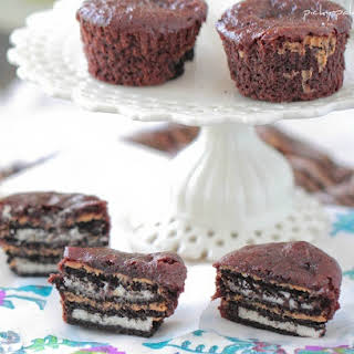 Oreo and Peanut Butter Brownie Cakes.