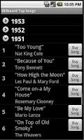 Screenshot of All Billboard Top Lists - Ads