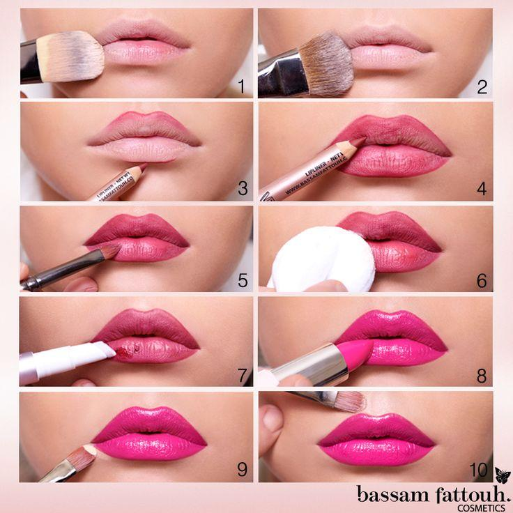 Lip Makeup Step By