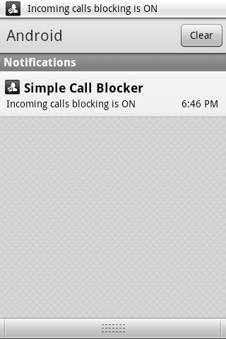 Simple Call Blocker - screenshot