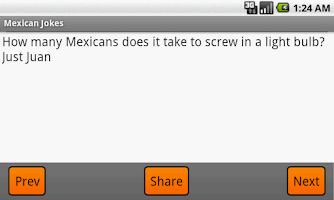 Screenshot of Funny Mexican Jokes