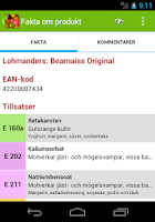 Screenshot of E-nummerguiden