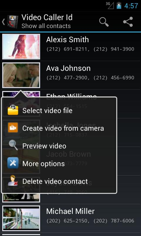 Video Caller Id - screenshot