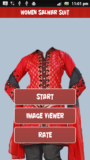 Women Salvar Suit Photo Maker