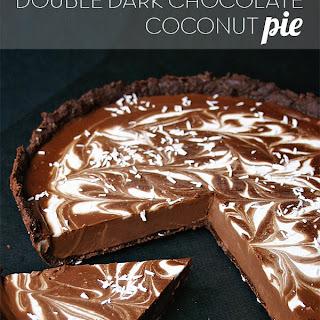 Double Dark Chocolate Coconut Pie