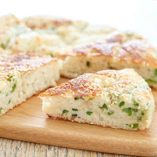 Chinese Sesame Bread with Scallions.