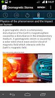 Screenshot of Magnetic Storm Forecast