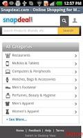 Screenshot of Online Shopping