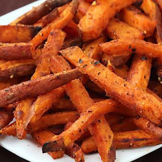 Oven-Roasted Sweet Potato Fries.