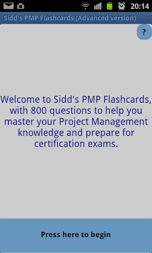 Sidd's PMP Flashcards Advanced
