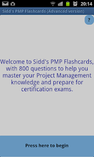 Sidd's PMP Flashcards Advanced- screenshot thumbnail