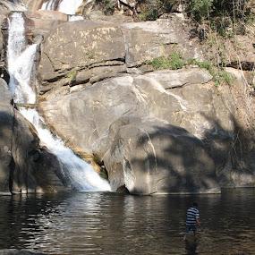 Lone Ranger by Mayank Naharia - Nature Up Close Water ( canon, mountain, nature, waterfall, kerala )