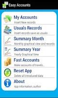 Screenshot of Easy Accounts