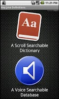 Screenshot of Key Java Definitions