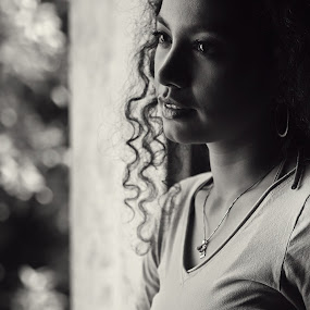 by Januar D - Black & White Portraits & People ( woman, b&w, portrait, person )