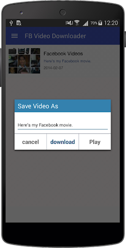 my facebook video downloader app