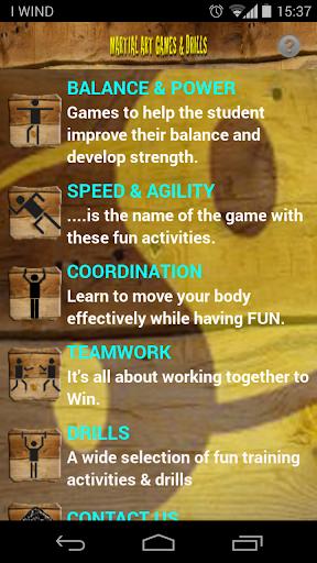 Martial Arts Games Drills