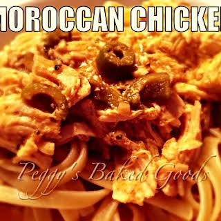 Slow Cooked Moroccan Chicken.