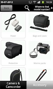 Accessory Finder by Sony - screenshot thumbnail