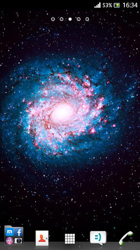 Spiral Galaxy Live Wallpaper