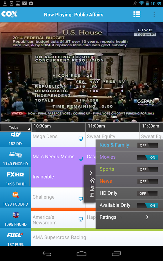 Cox TV Connect - screenshot