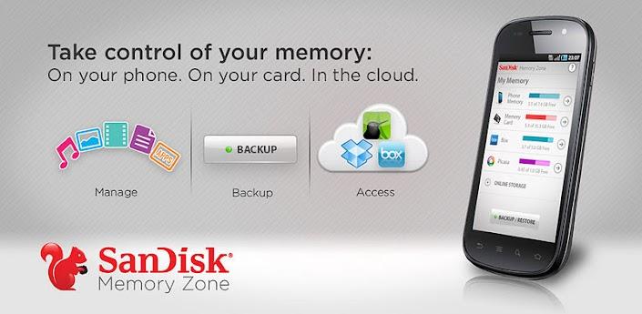 SanDisk Memory Zone - Android-приложение для управления памятью на смартфоне