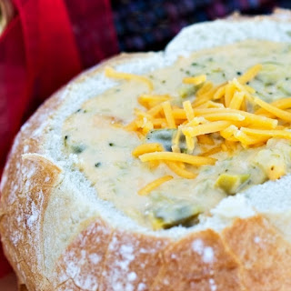 Cheesy Broccoli Cheddar Soup.