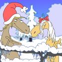 Christmas Caroling Horses icon