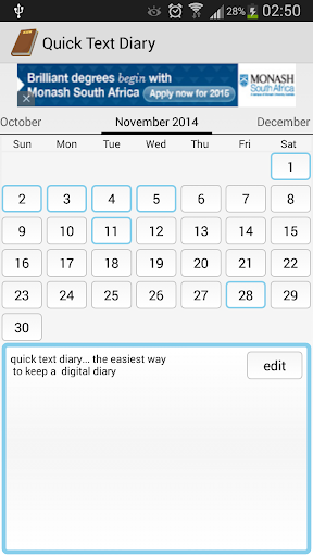 Quick Text Diary