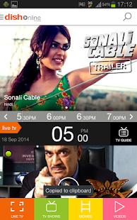 DishTV - LIVE TV MOVIES VIDEOS - screenshot thumbnail