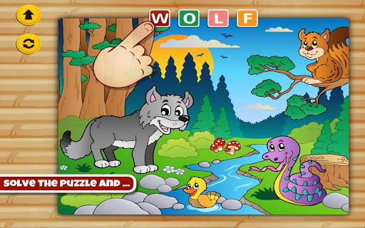 Animal Word Puzzle for Kids