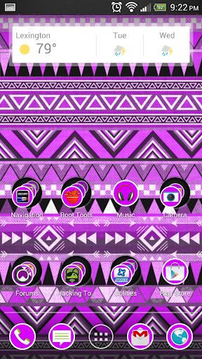 Aztec Tribal Purple Theme