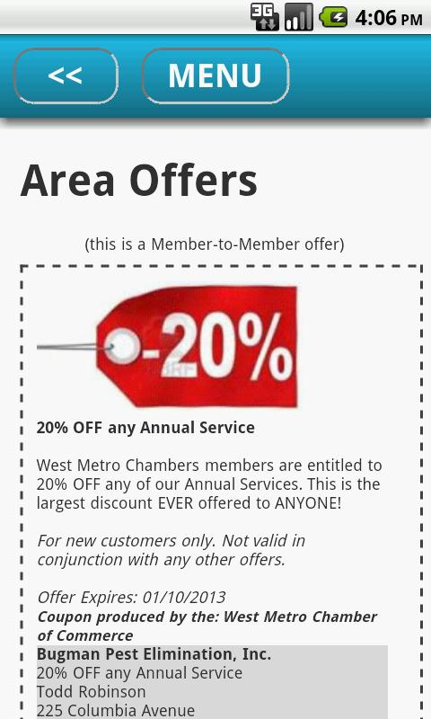 West Metro Chamber of Commerce - screenshot