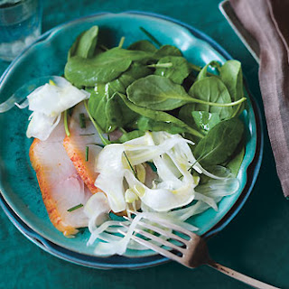 Smoked Fish with Fennel and Arugula Salad