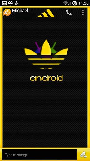 Andidas Yellow EvolveSMS Theme