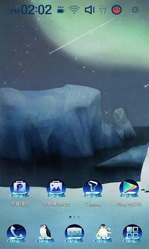 남극의 밤 런처플래닛 테마