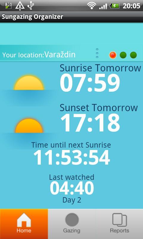 Sungazing Organizer- screenshot