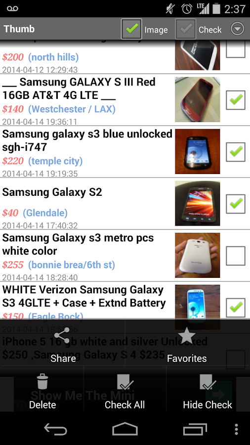 CNT craigslist app - screenshot
