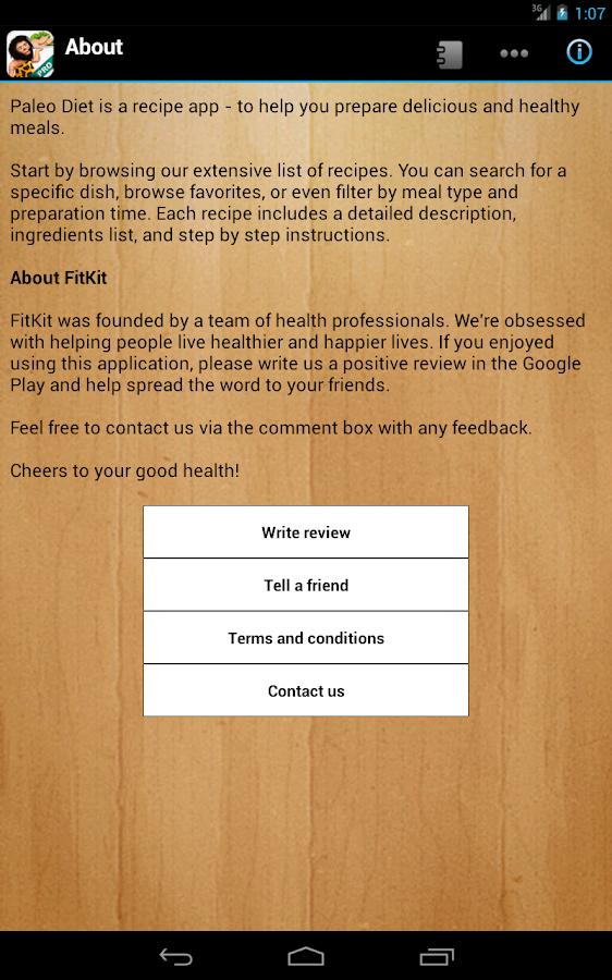 Paleo Diet Pro- screenshot