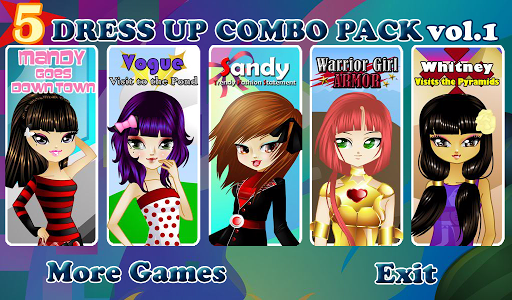 5 Dress Up Combo Pack Vol. 1