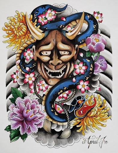 Hannya Tattoo Design Wallpaper
