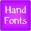 Hand fonts for FlipFont® free icon